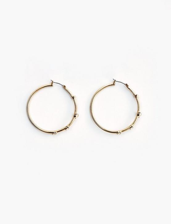 Mother of Pearl Hoop Set, GOLD, productTileDesktop