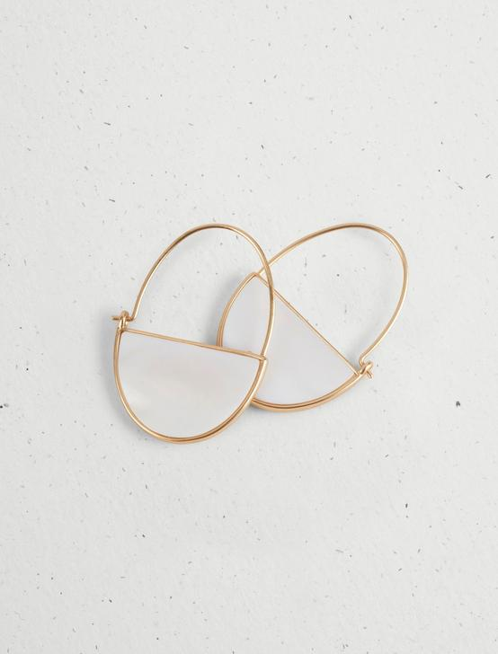 REVERSIBLE HOOP EARRINGS, GOLD, productTileDesktop