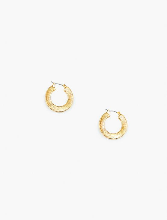 ETCHED HOOP EARRINGS, GOLD, productTileDesktop