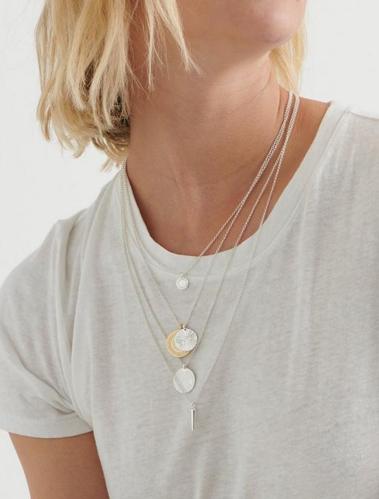 COIN LAYERED NECKLACE, TWO TONE, productTileDesktop