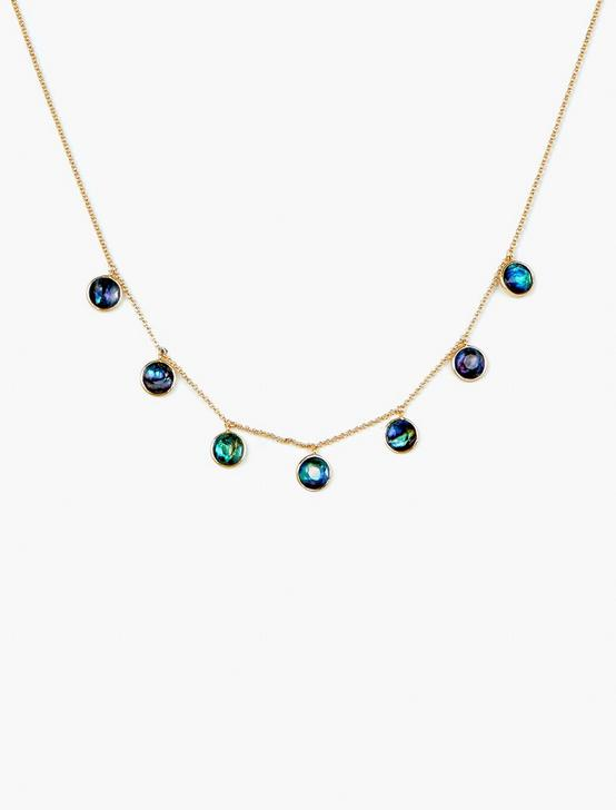 ABALONE COLLAR NECKLACE, GOLD, productTileDesktop