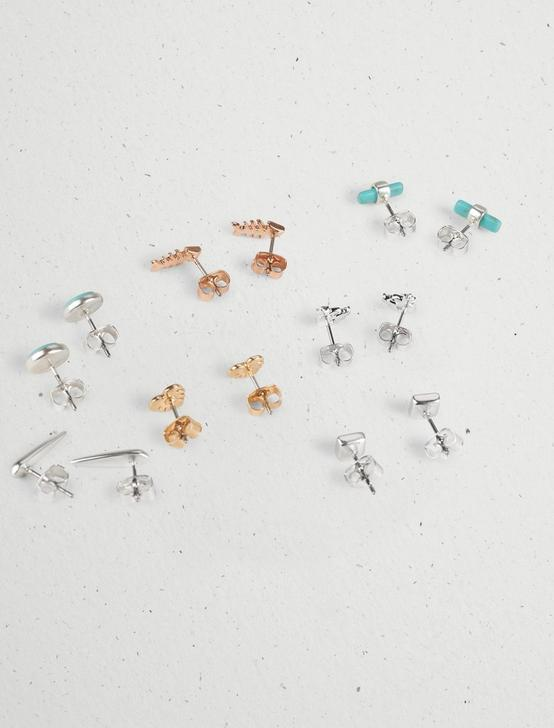 SEA SHELL STUD SET, TWO TONE, productTileDesktop