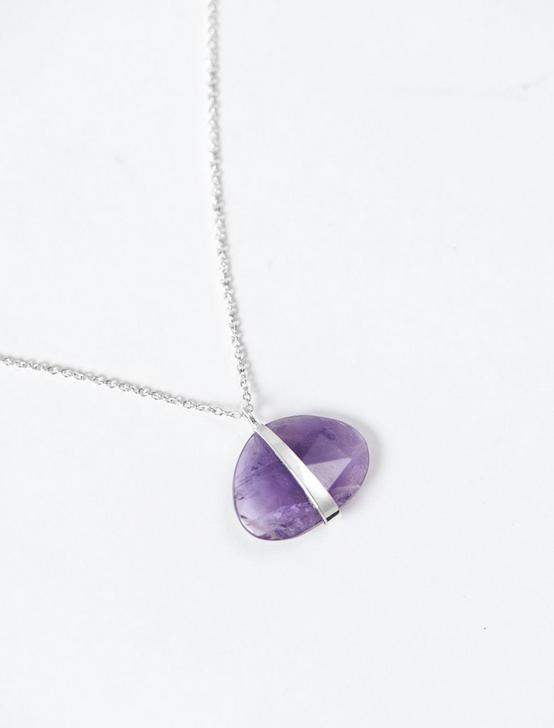 AMETHYST PENDANT  NECKLACE, SILVER, productTileDesktop