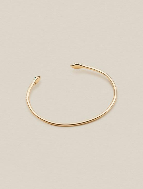 SNAKE PAVE CUFF, GOLD, productTileDesktop