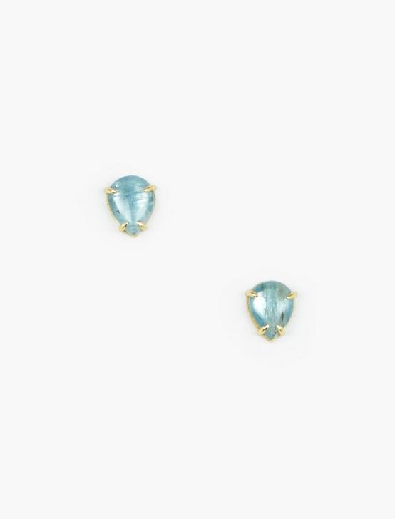 Kyanite Stud Earrings, GOLD, productTileDesktop