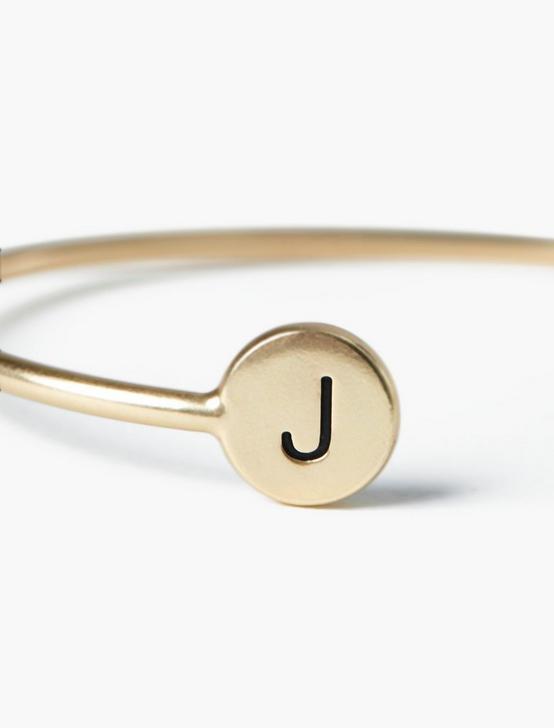 J CUFF BRACELET, GOLD, productTileDesktop