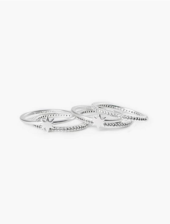 STAR STACK RING, SILVER, productTileDesktop