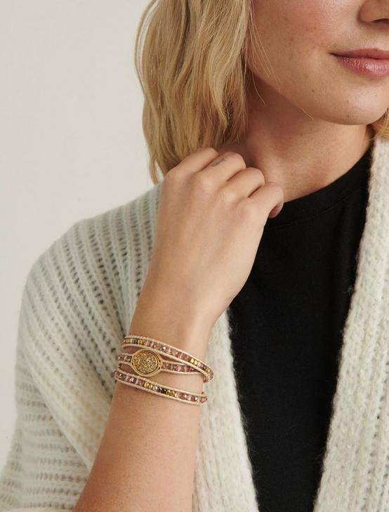 Druzy Wrap Bracelet, TWO TONE, productTileDesktop