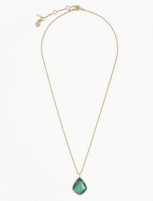 Green Collar Necklace, GOLD