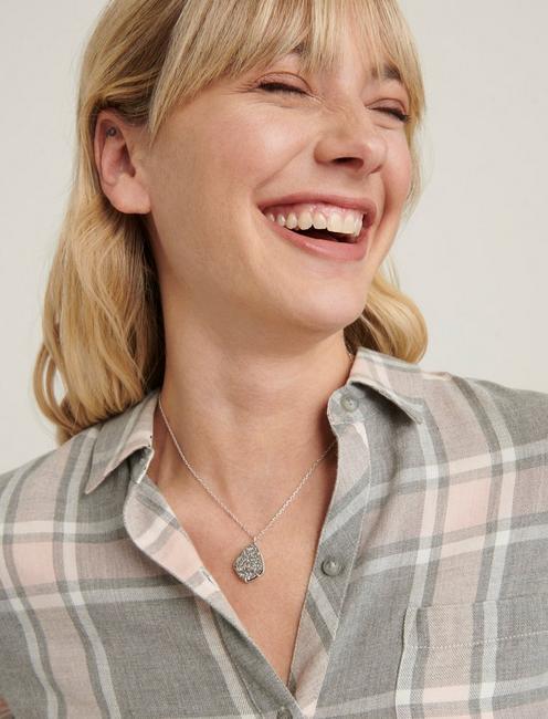 Druzy Collar Necklace, SILVER