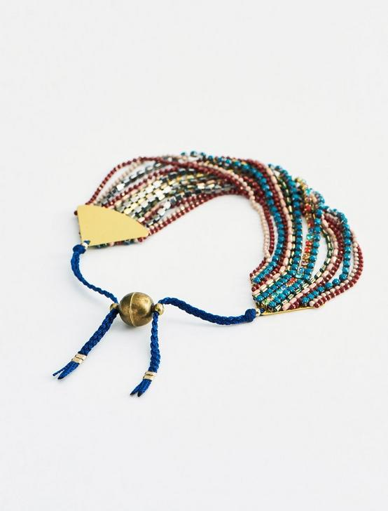 MULTI LAYER BEADED BRACELET, GOLD, productTileDesktop