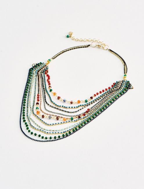 MULTI LAYER BEADED NECKLACE,