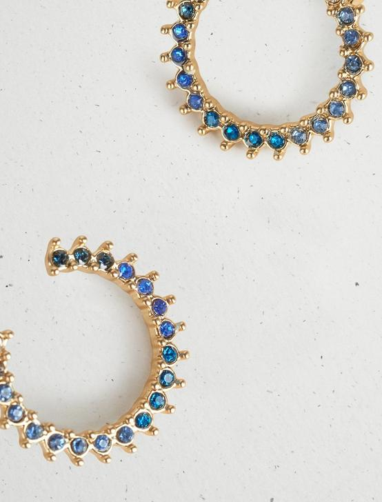 OMBRE PAVE CIRCLE STUDS, GOLD, productTileDesktop