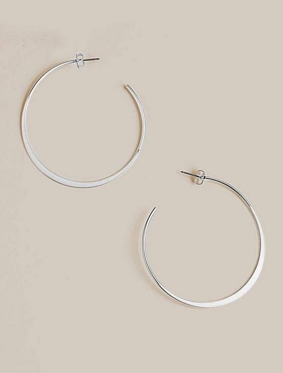 BIG OPEN HOOP, SILVER, productTileDesktop