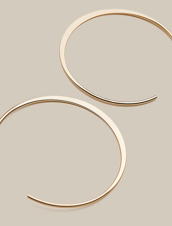 BIG OPEN HOOP, GOLD, productTileDesktop