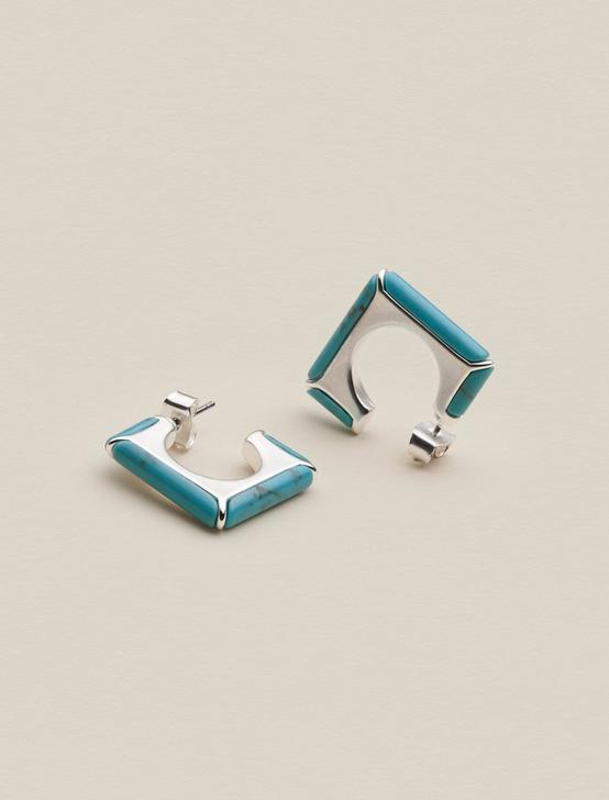TURQUOISE SQUARE HOOPS, , productTileDesktop