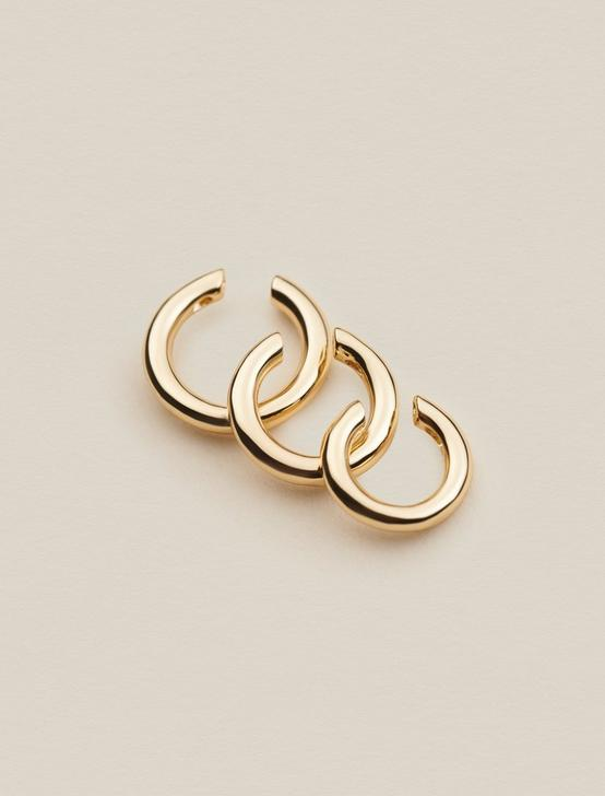 TRIO GOLD EAR CUFFS, GOLD, productTileDesktop