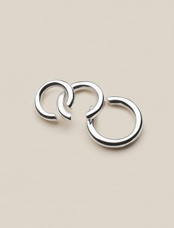 TRIO SILVER EAR CUFFS, SILVER, productTileDesktop