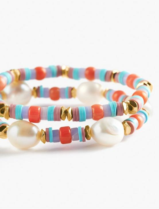 PEARL BEADED BRACELET, GOLD, productTileDesktop