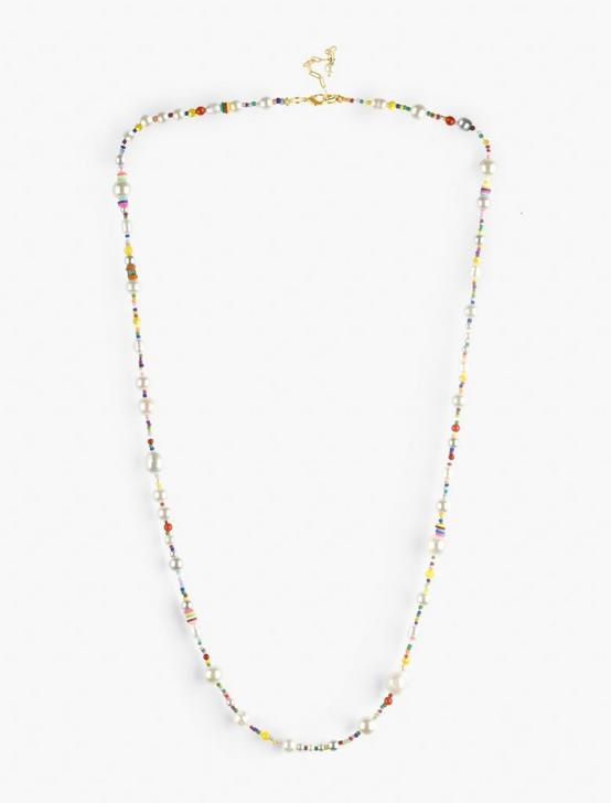 RAINBOW PEARL STRAND NECKLACE, GOLD, productTileDesktop