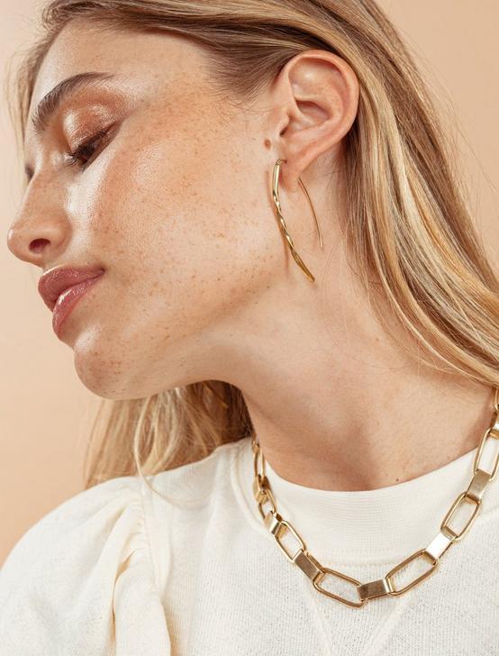 SOKO TWIST BOW EARRINGS, GOLD, productTileDesktop