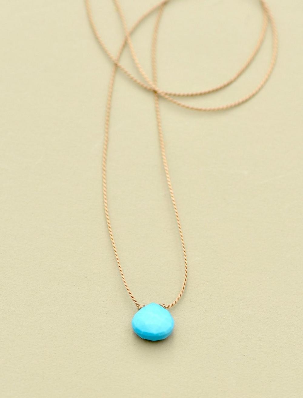 Britta Ambauen Turquoise Teardrop Necklace, image 1