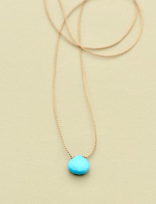Britta Ambauen Turquoise Teardrop Necklace, GOLD