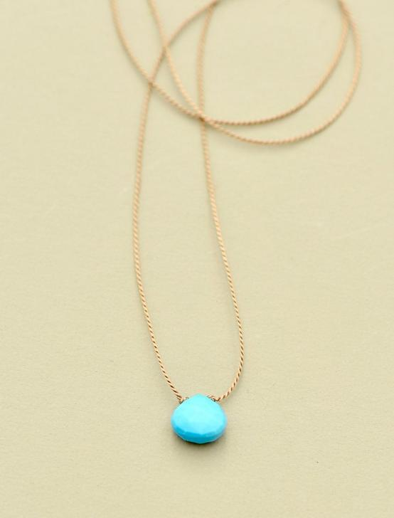 Britta Ambauen Turquoise Teardrop Necklace