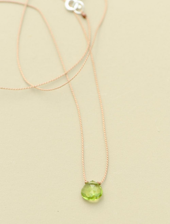 Britta Ambauen Peridot Teardrop Necklace, image 1