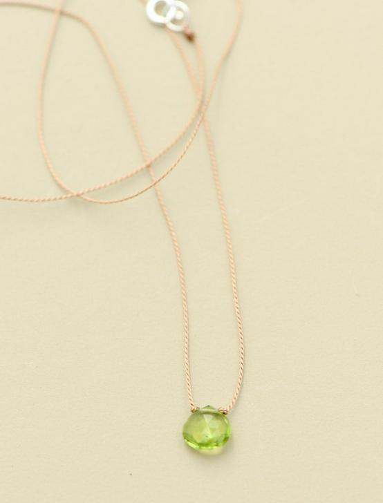 Britta Ambauen Peridot Teardrop Necklace, GOLD, productTileDesktop