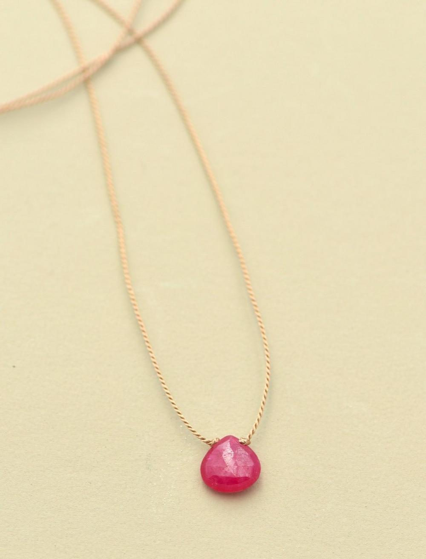 Britta Ambauen Ruby Teardrop Necklace, image 1