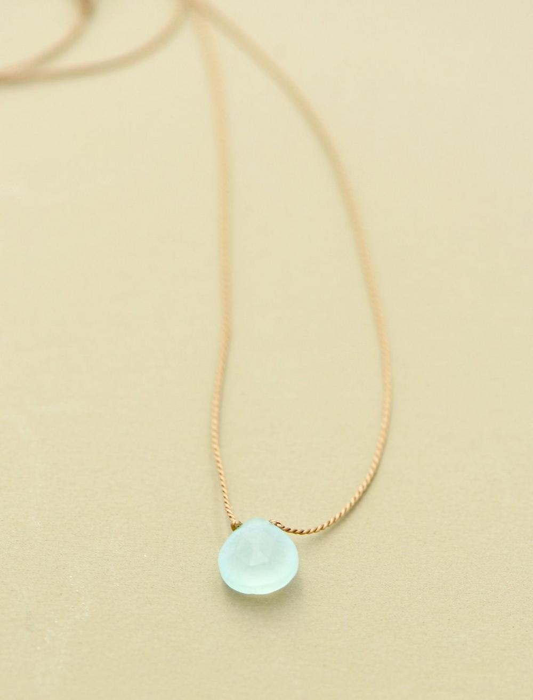Britta Ambauen Blue Chalcedony Teardrop Necklace, image 1