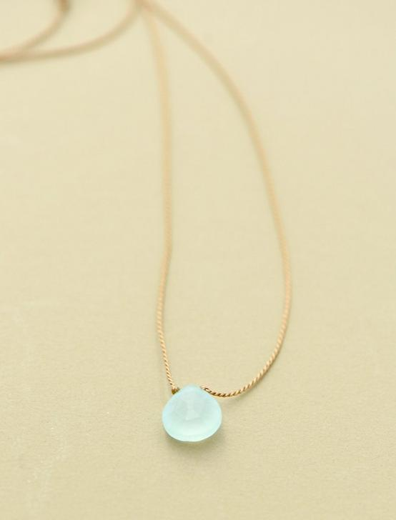 Britta Ambauen Blue Chalcedony Teardrop Necklace, GOLD, productTileDesktop