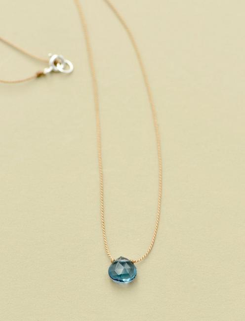 Britta Ambauen London Blue Topaz Necklace, GOLD
