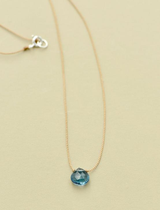 Britta Ambauen London Blue Topaz Necklace, GOLD, productTileDesktop