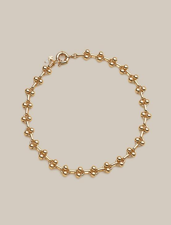 CIRCLE CHAIN LINK NECKLACE, GOLD, productTileDesktop