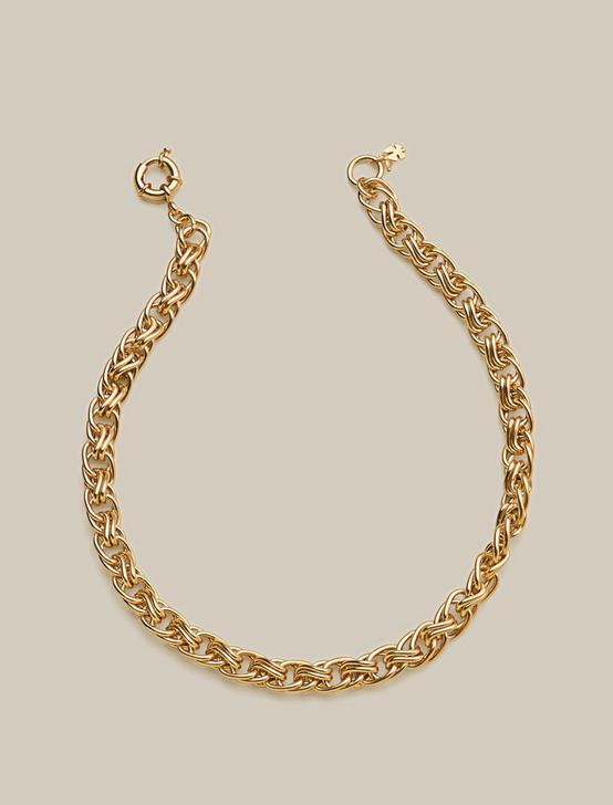 CHAIN LINK NECKLACE, GOLD, productTileDesktop