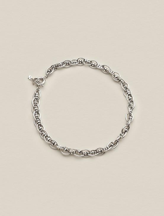 LOOP CHAIN LINK NECKLACE, SILVER, productTileDesktop