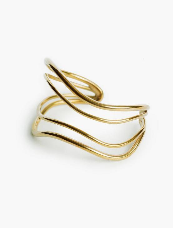 SOKO WAVE STRAND CUFF, GOLD, productTileDesktop