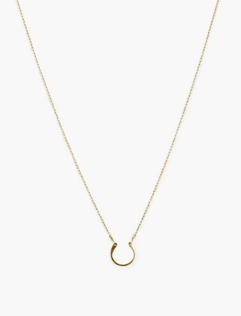 Britta Ambauen Horseshoe Charm Necklace, GOLD
