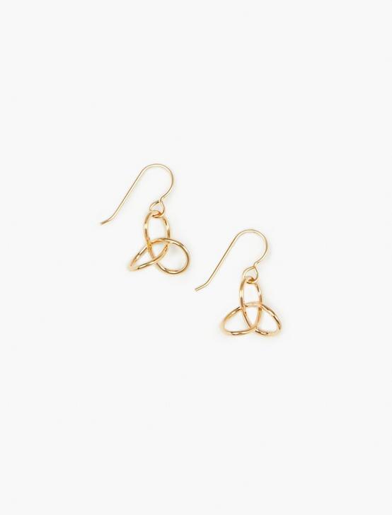 Britta Ambauen Knot Earrings, GOLD, productTileDesktop