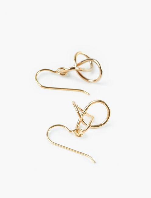 Britta Ambauen Knot Earrings, GOLD