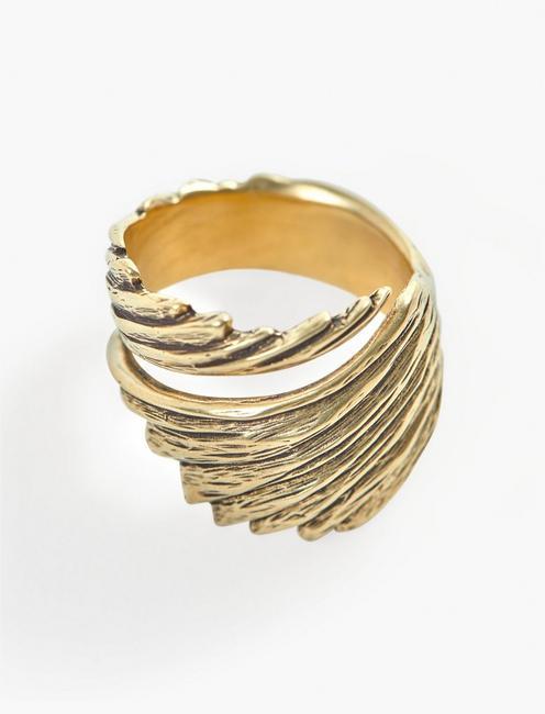 Britta Ambauen Wabi Sabi Wing Ring, GOLD