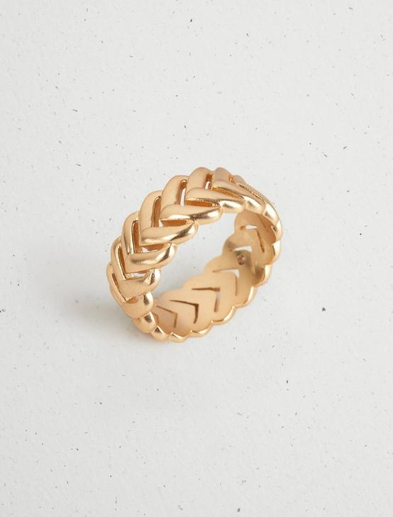 BRAIDED BAND RING, GOLD, productTileDesktop