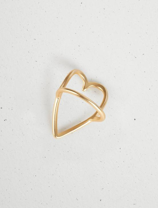 LUCKY OPEN HEART RING, GOLD, productTileDesktop