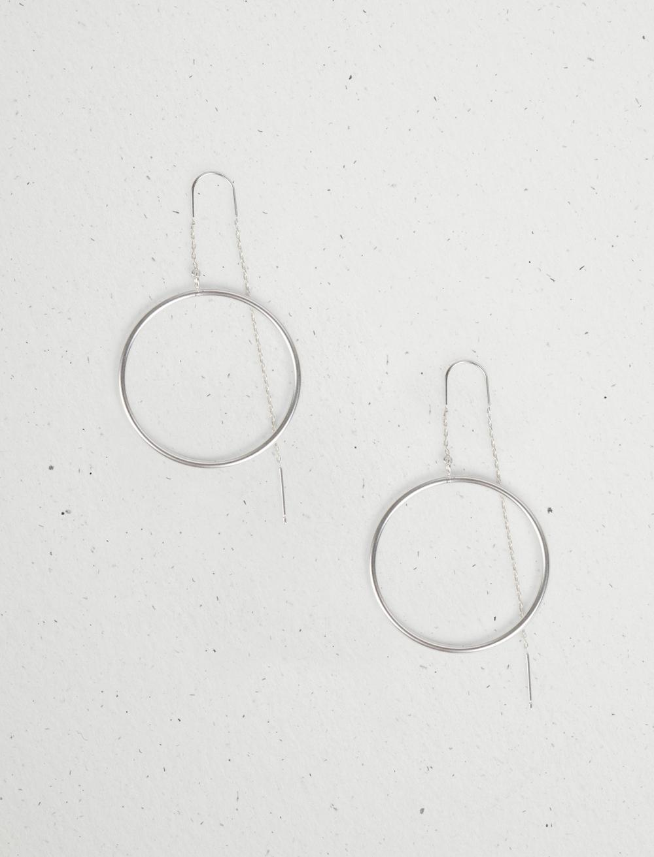 CIRCLE HOOP THREADER EARRING, image 1