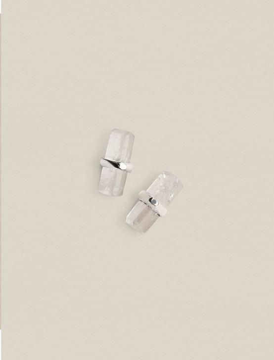 QUARTZ CRYSTAL STUDS, SILVER, productTileDesktop