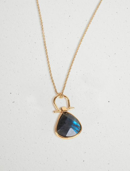 LABRADORITE PENDANT NECKLACE, GOLD, productTileDesktop