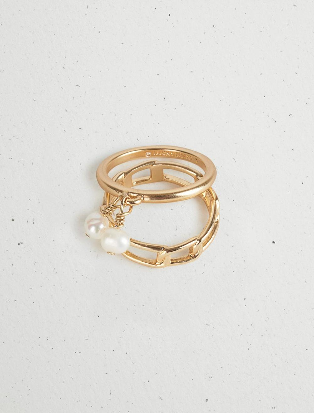 PEARL CHAIN RING STACK, image 3