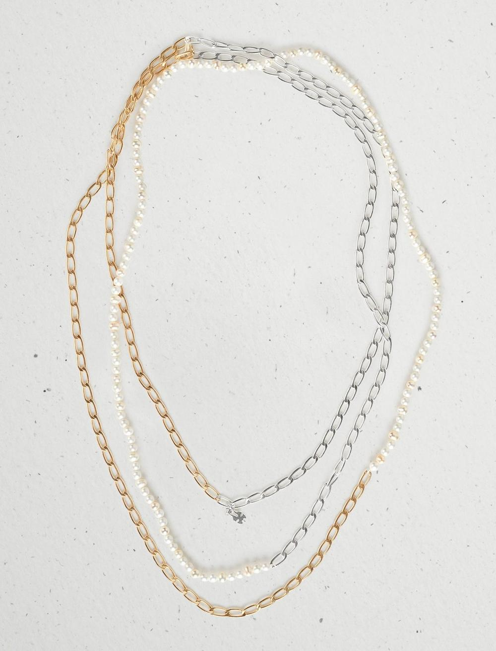 PEARL CHAIN STRAND NECKLACE, image 1